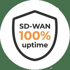 Allstream 100 percent uptime shield circle