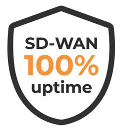 Allstream SD-WAN 100 percent uptime shield simple
