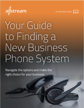 Your Guide to Finding a New Business Phone System ebook Cover Image