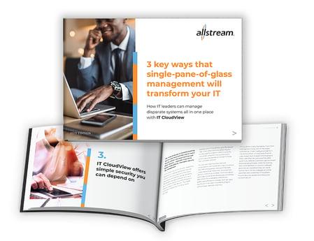 Allstream IT-CloudView eBook: 3 Key Ways